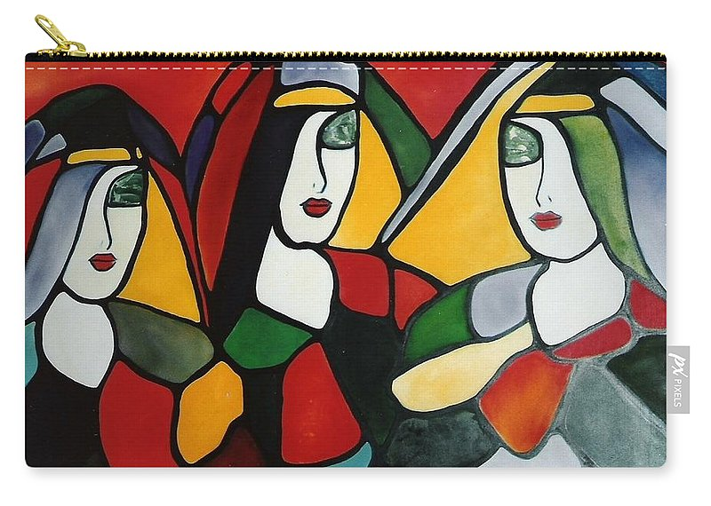 Nun Carry-all Pouch featuring the painting Stained Glass I by Lord Frederick Lyle Morris - Disabled Veteran