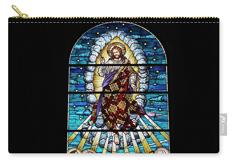Glass Art Carry-all Pouch featuring the photograph Stained Glass Pc 02 by Thomas Woolworth