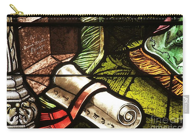Stained Glass Scroll Carry-all Pouch featuring the photograph Stained Glass Scroll by Adam Jewell