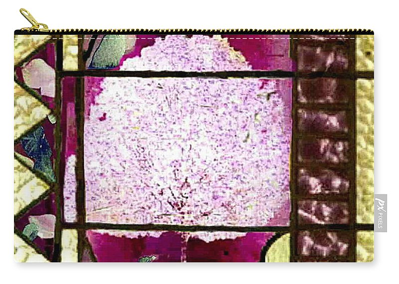 Stained Glass Template Carry-all Pouch featuring the photograph Stained Glass Template Magnolia Glory by Ellen Cannon