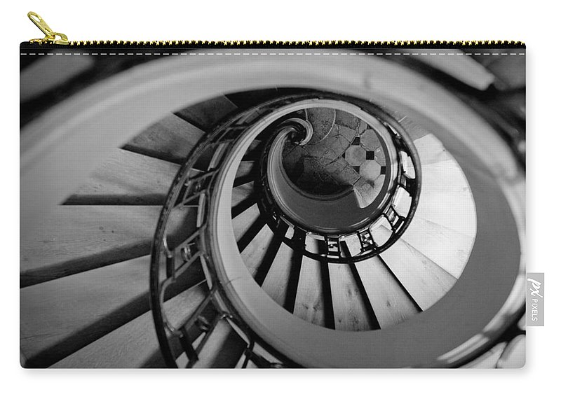 B&w Carry-all Pouch featuring the photograph Staircase by Sebastian Musial
