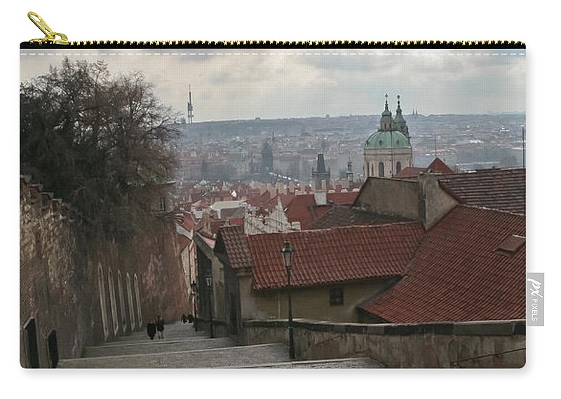 Travel Carry-all Pouch featuring the photograph Stairs To Prague by Elvis Vaughn