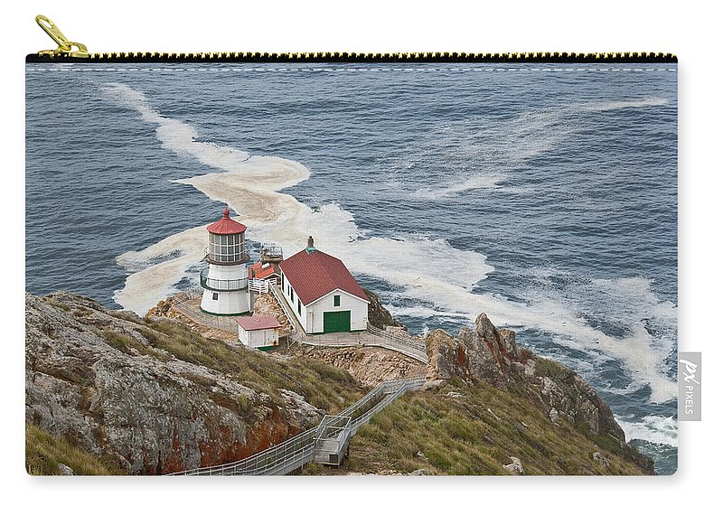 Architecture Carry-all Pouch featuring the photograph Stairway Leading To Point Reyes Lighthouse by Jeff Goulden