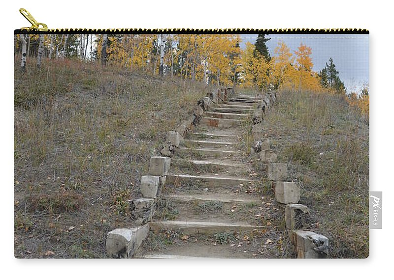 Stairway Carry-all Pouch featuring the photograph Stairway To Autumn by Brian Boyle