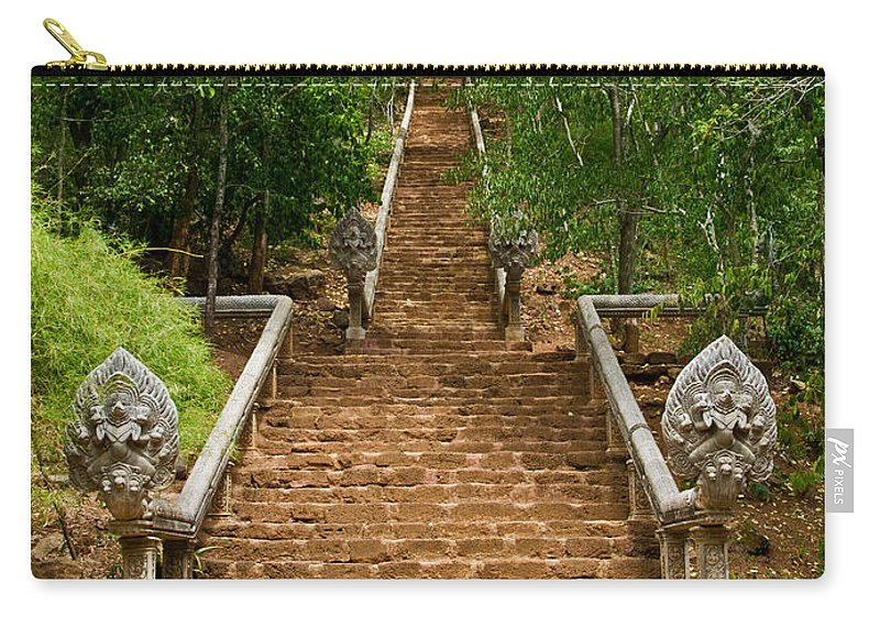 Cambodia Carry-all Pouch featuring the photograph Stairway To Heaven by David Freuthal