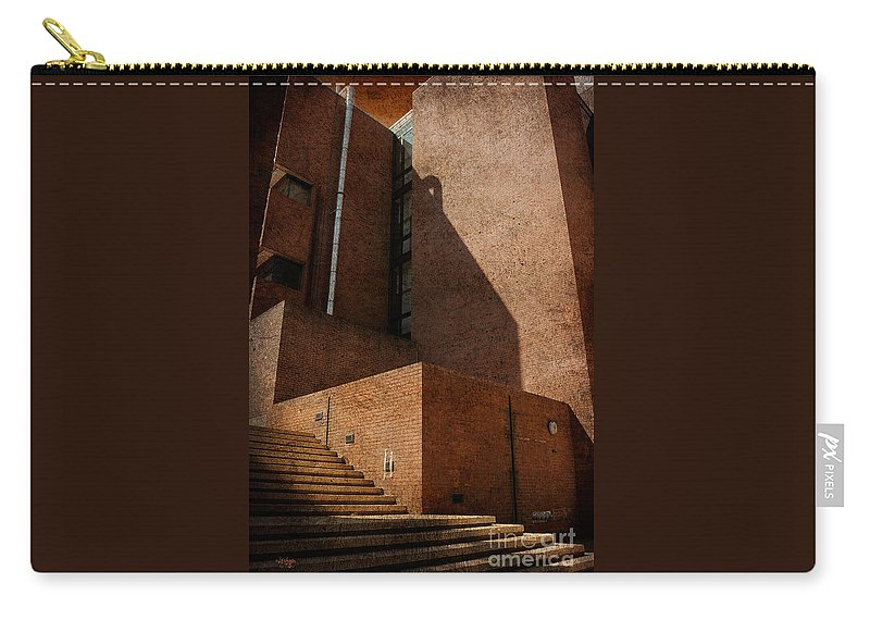 Stairs Carry-all Pouch featuring the photograph Stairway To Nowhere by Lois Bryan