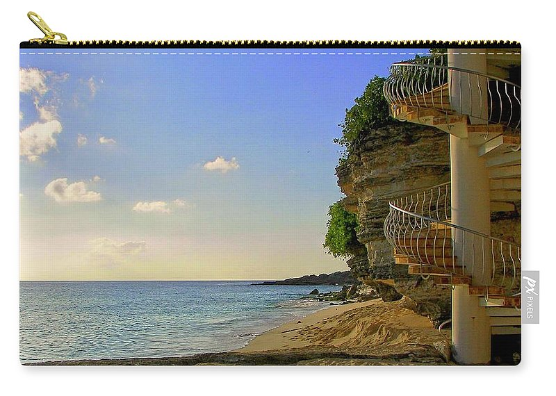 Seascapes Carry-all Pouch featuring the photograph Stairway To The Sea by Karen Wiles