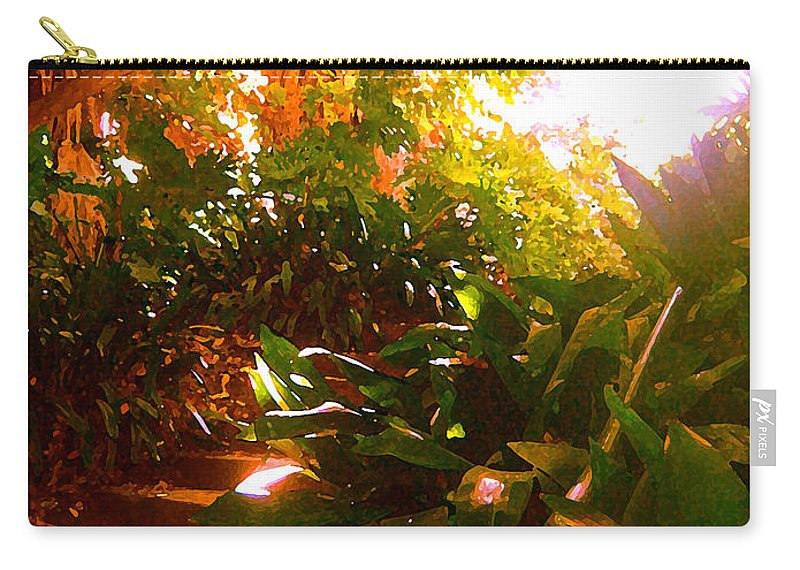 Landscapes Carry-all Pouch featuring the painting Stairway To The Top by Amy Vangsgard