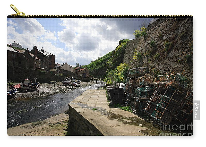 Beach Carry-all Pouch featuring the photograph Staithes Harbour by Deborah Benbrook