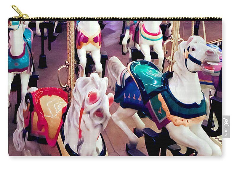 Carousel Carry-all Pouch featuring the photograph Stampede by Greg Fortier