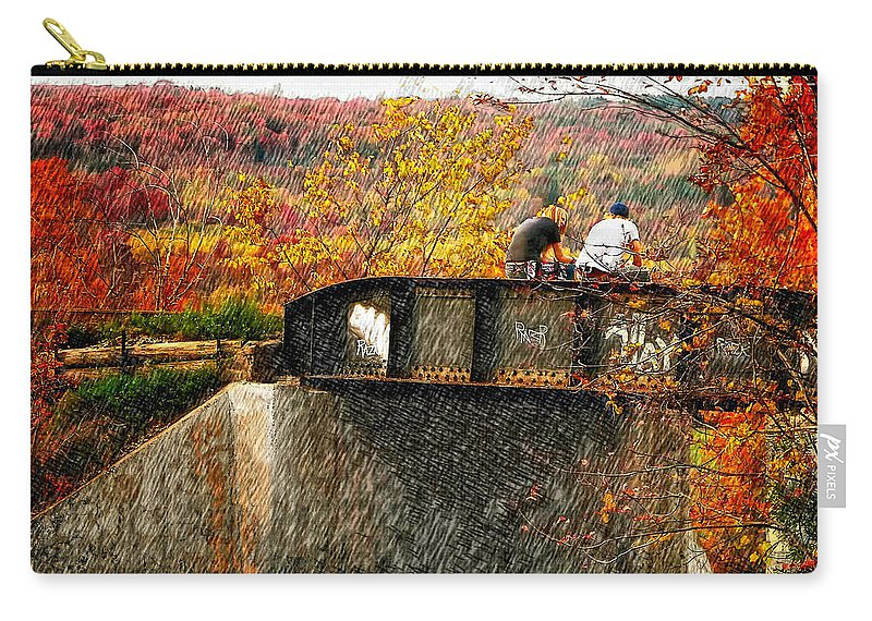 Young Love Carry-all Pouch featuring the photograph Stand By Me by Steve Harrington