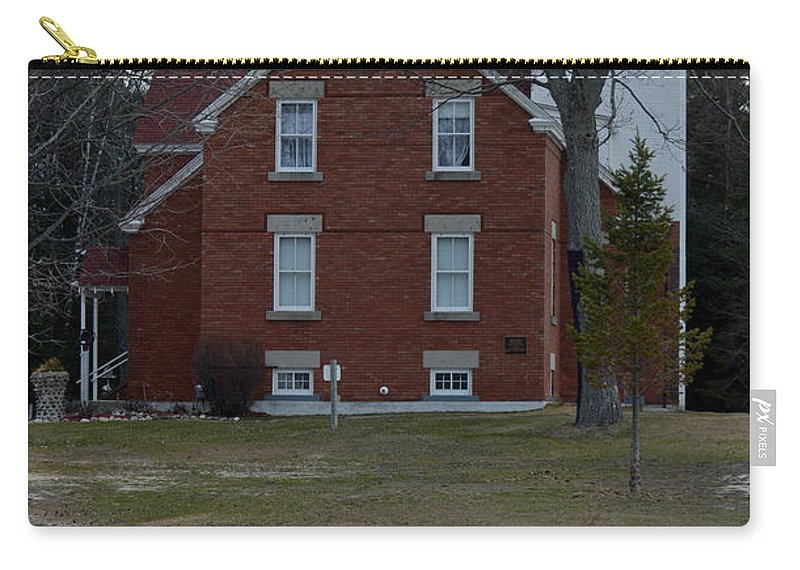 Forty Mile Point Lighthouse Carry-all Pouch featuring the photograph Stand Tall by Linda Kerkau