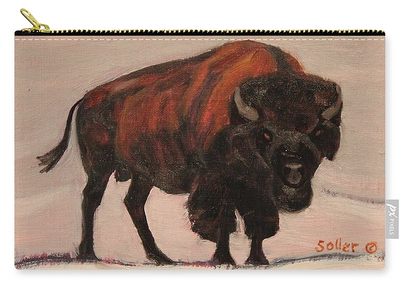 Ruth Soller Carry-all Pouch featuring the painting Stand Your Ground by Ruth Soller