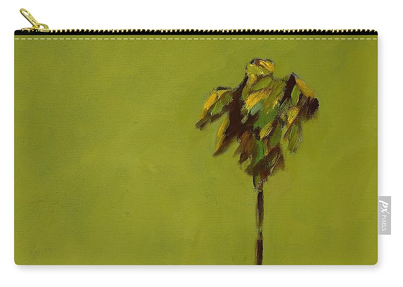 Palm Tree Carry-all Pouch featuring the painting Standing Apart by Randine Dodson