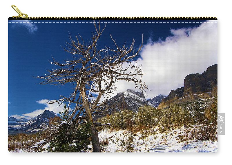 Lake Sherburne Carry-all Pouch featuring the photograph Standing Out by Adam Jewell
