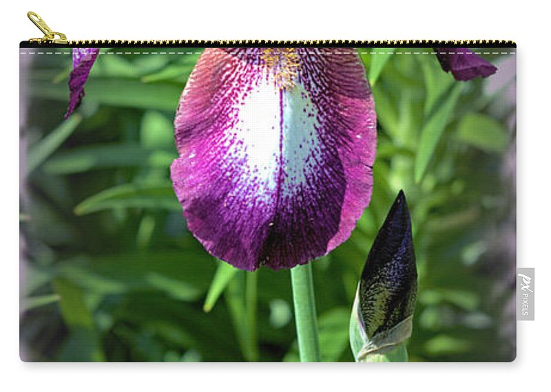 Iris Carry-all Pouch featuring the photograph Standing Tall by Bonfire Photography