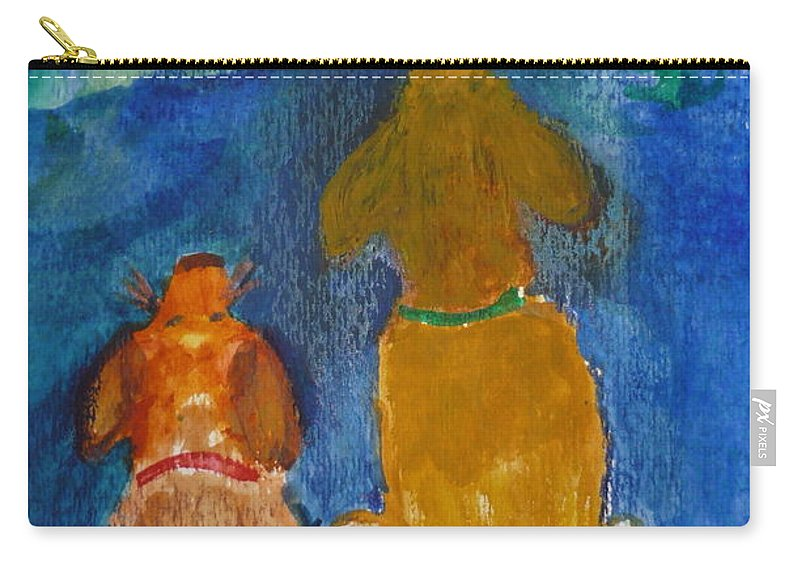 Christmas Carry-all Pouch featuring the painting Star Gazing by Kimberly Maxwell Grantier