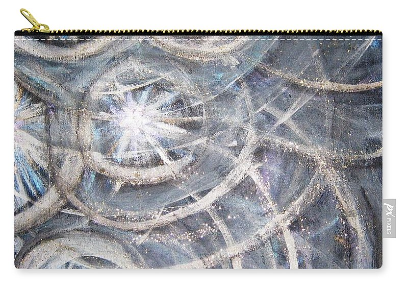 Stars Carry-all Pouch featuring the painting Star Light by T Byron K