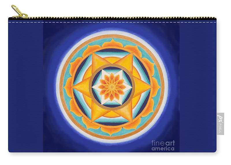 Mandala Carry-all Pouch featuring the painting Star Of Energy by Mayki Wiberg