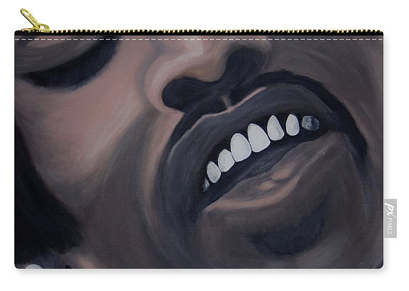 Guitar Legend Carry-all Pouch featuring the painting Star Spangled Jimi by Dean Stephens