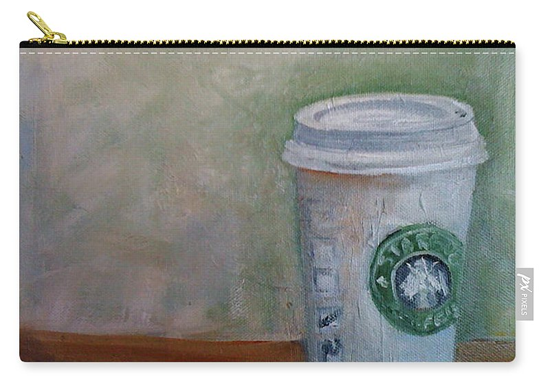 Starbucks Coffee Carry-all Pouch featuring the painting Starbucks Coffee by Mohita Bhatnagar