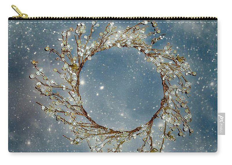 Wreath Carry-all Pouch featuring the painting Stardust And Pearls by RC deWinter