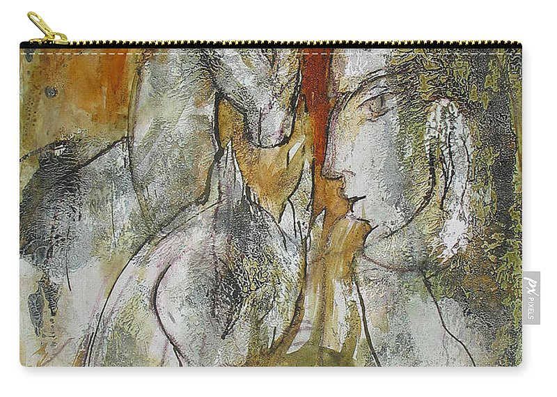 Horse Carry-all Pouch featuring the painting Stare by Floria Varnoos