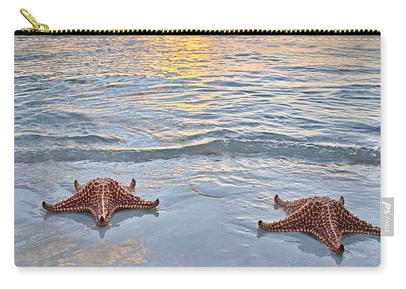 3scape Carry-all Pouch featuring the photograph Starfish Beach Sunset by Adam Romanowicz