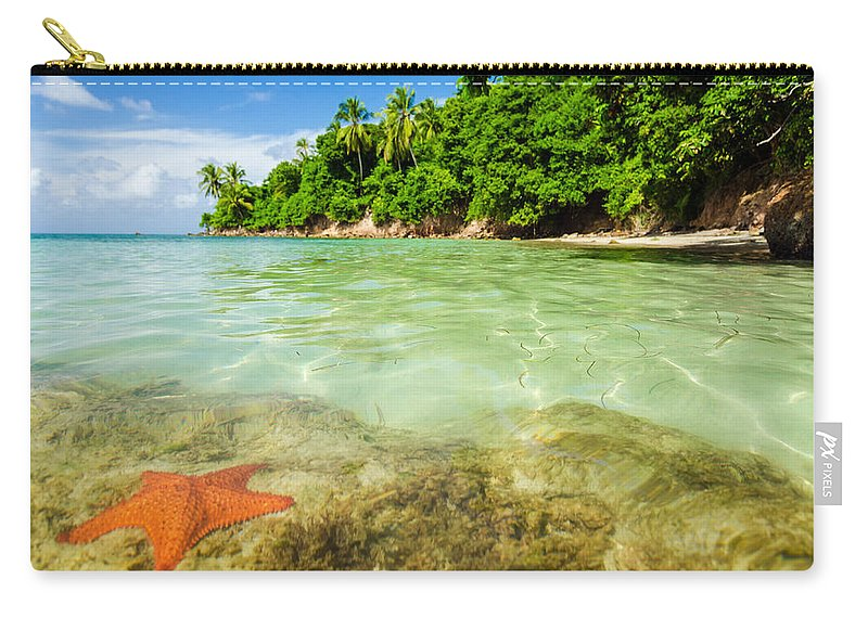 Bay Carry-all Pouch featuring the photograph Starfish In Clear Water by Jess Kraft