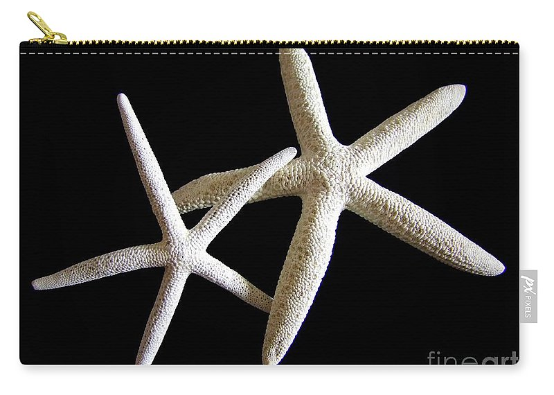 Starfish Carry-all Pouch featuring the photograph Starfish Tango by Mary Deal