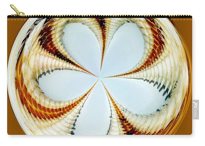 Photography Carry-all Pouch featuring the photograph Starfish To Flower - Orb by Kaye Menner