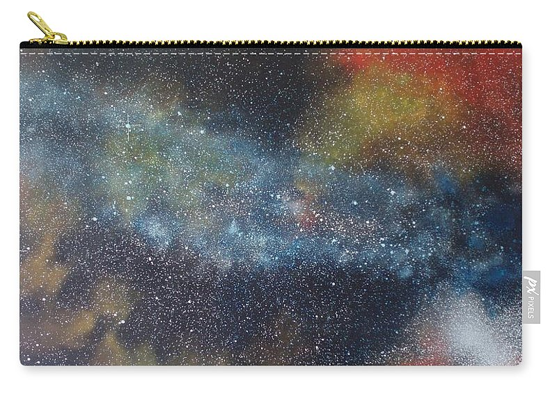 Space;stars;starry;nebula;spiral;galaxy;star Cluster;celestial;cosmos;universe;orgasm Carry-all Pouch featuring the painting Stargasm by Sean Connolly