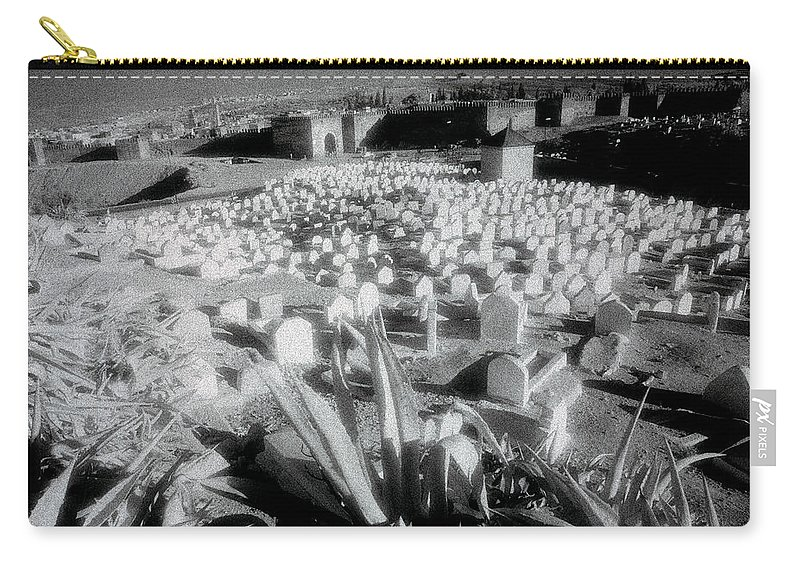 Landscape Carry-all Pouch featuring the photograph Surreal Cemetery by Shaun Higson