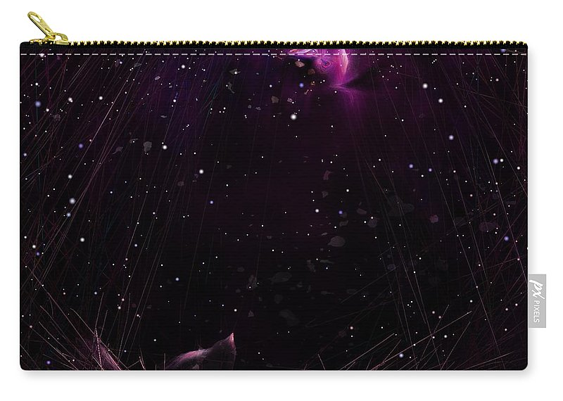 Night Carry-all Pouch featuring the digital art Starry Starry Night by Rachel Christine Nowicki