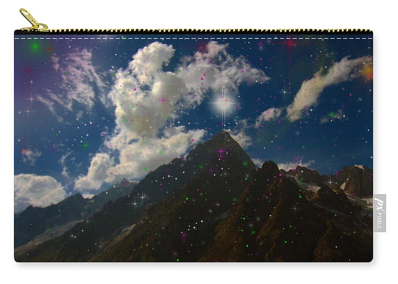 Augusta Stylianou Carry-all Pouch featuring the photograph Stars And Planets On Mont Blanc by Augusta Stylianou