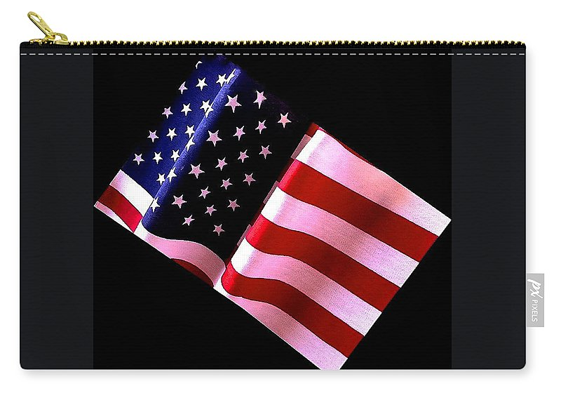 Stars Carry-all Pouch featuring the photograph Stars And Stripes by Bill Owen