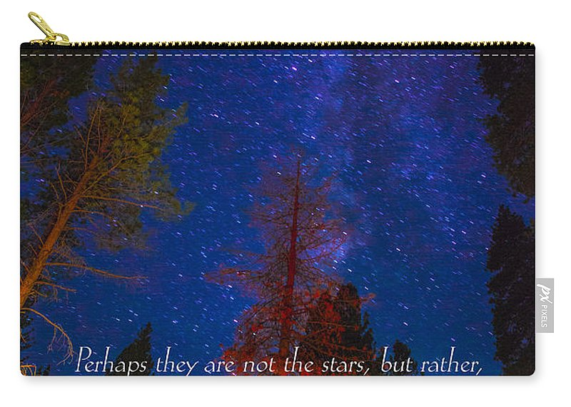 Inspirational Greeting Cards Grieving Note Cards Carry-all Pouch featuring the photograph Stars Light Star Bright Fine Art Photography Prints And Inspirational Note Cards by Jerry Cowart