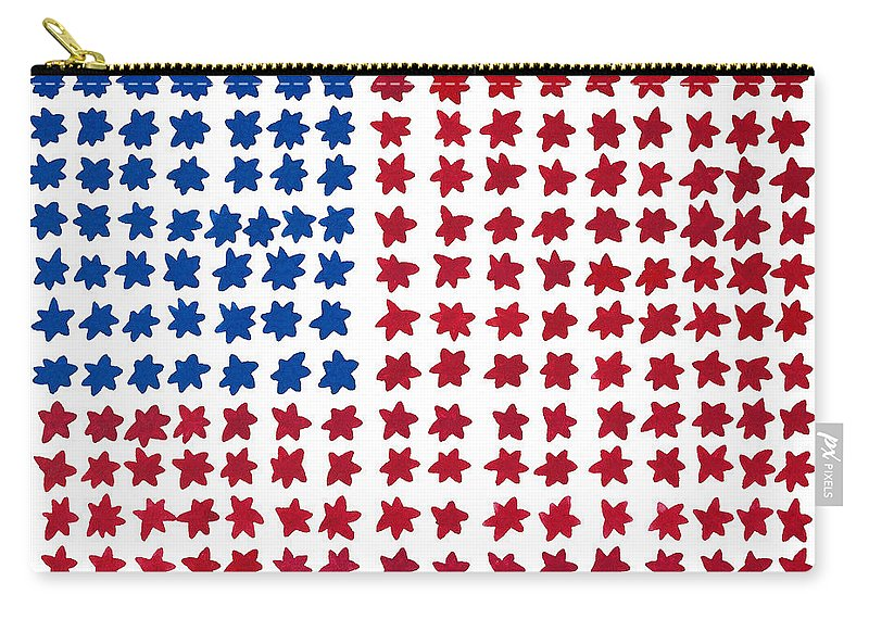 Contemporary Carry-all Pouch featuring the painting Stars No Stripes by Bjorn Sjogren