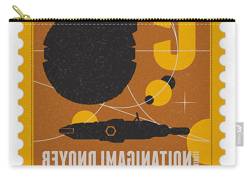 Minimal Carry-all Pouch featuring the digital art Starschips 05-poststamp -star Wars by Chungkong Art