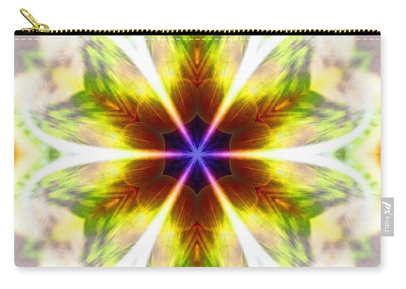 Sacredlife Mandalas Carry-all Pouch featuring the photograph Starseed Rainbow by Derek Gedney