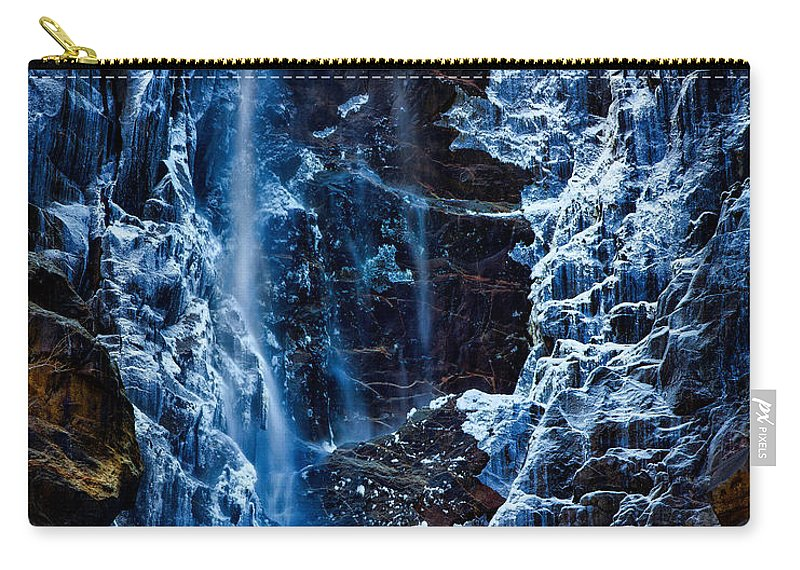 Yosemite Carry-all Pouch featuring the photograph Start Of Spring Bridalvail Fall by Anthony Bonafede