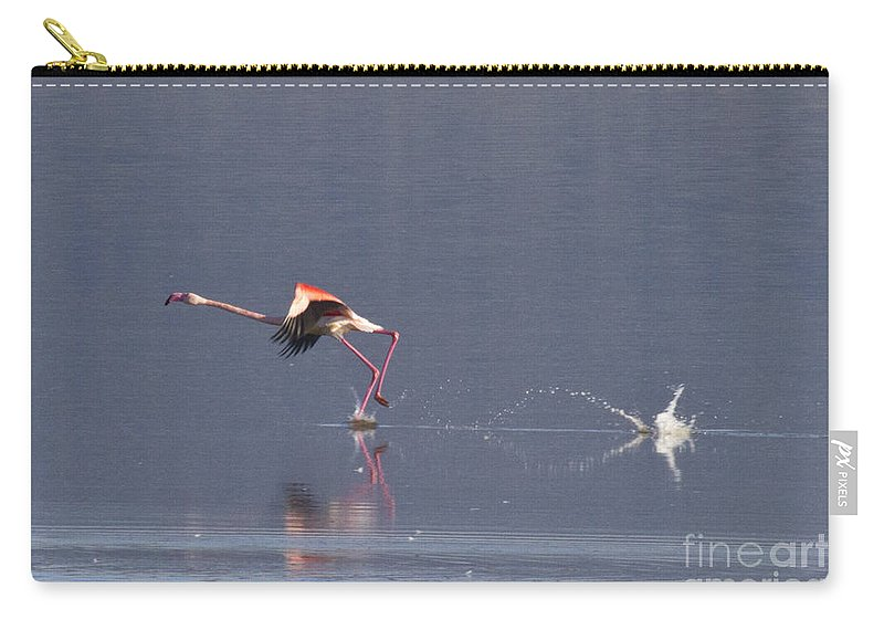 Heiko Carry-all Pouch featuring the photograph Starting To Fly by Heiko Koehrer-Wagner