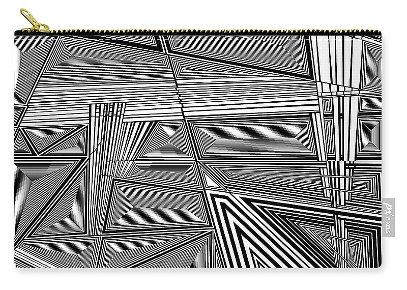 Black And White Carry-all Pouch featuring the painting Startle by Douglas Christian Larsen