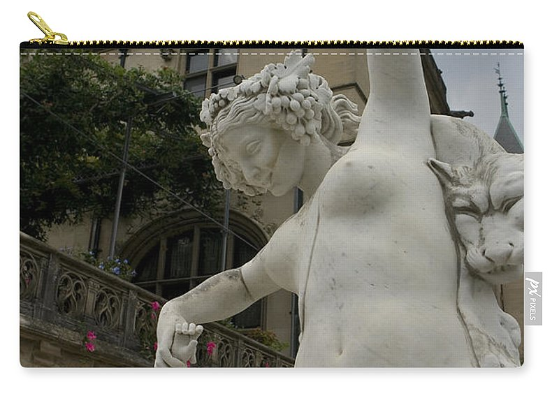 Biltmore Estate Carry-all Pouch featuring the photograph Statue At Biltmore Estate by Jason O Watson