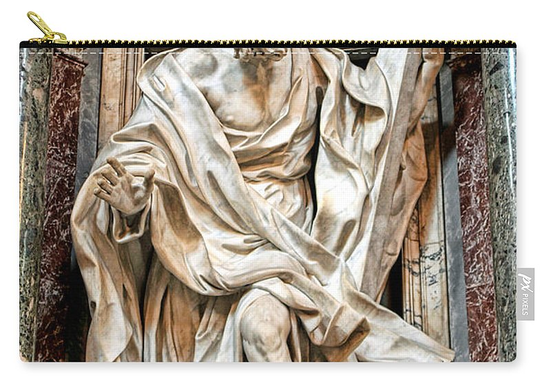 Carry-all Pouch featuring the photograph Statue by Bill Howard