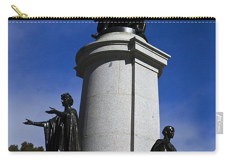 Travel Carry-all Pouch featuring the photograph Statue Of King Edward Vii by Jason O Watson