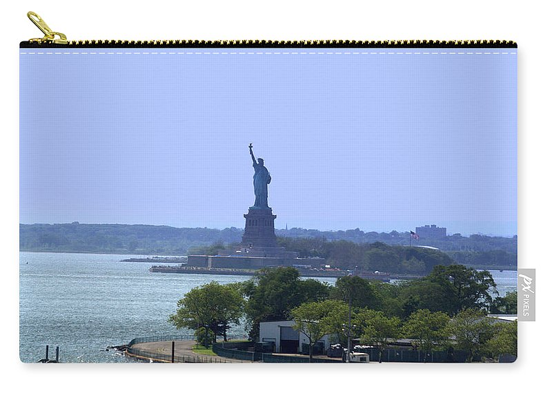 Statue Of Liberty Carry-all Pouch featuring the photograph Statue Of Liberty by Donna Walsh