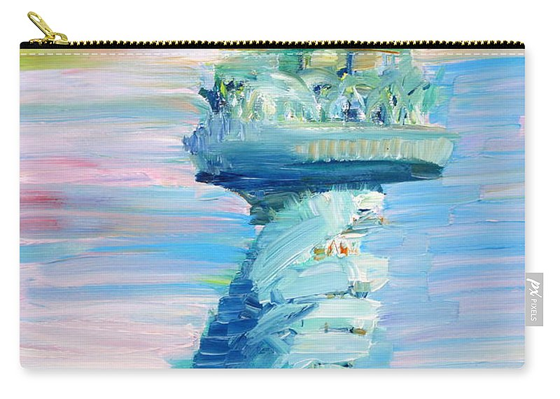 Statue Carry-all Pouch featuring the painting Statue Of Liberty - The Torch by Fabrizio Cassetta