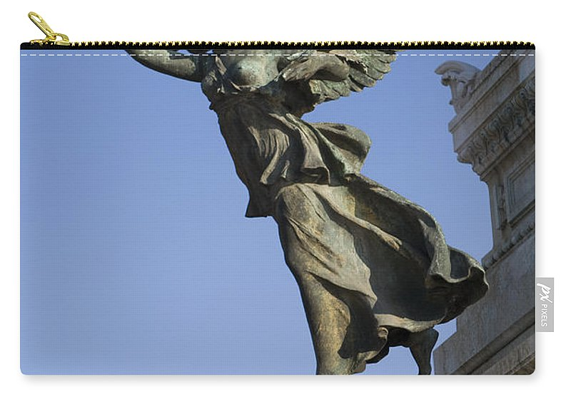Travel Carry-all Pouch featuring the photograph Statue On The Tomb Of The Unknown Soldier by Jason O Watson