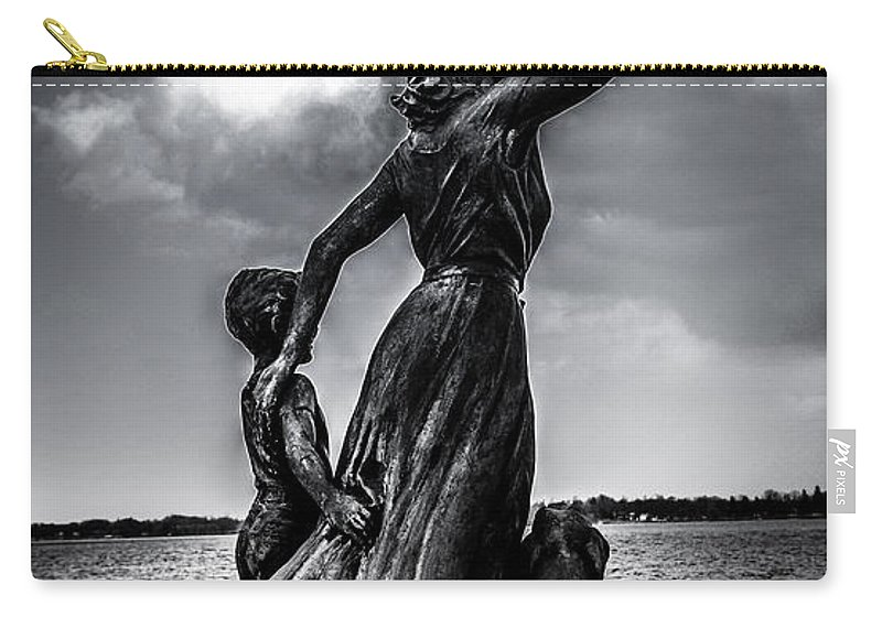 Statue Carry-all Pouch featuring the photograph Statue St Clair Mi by Ronald Grogan